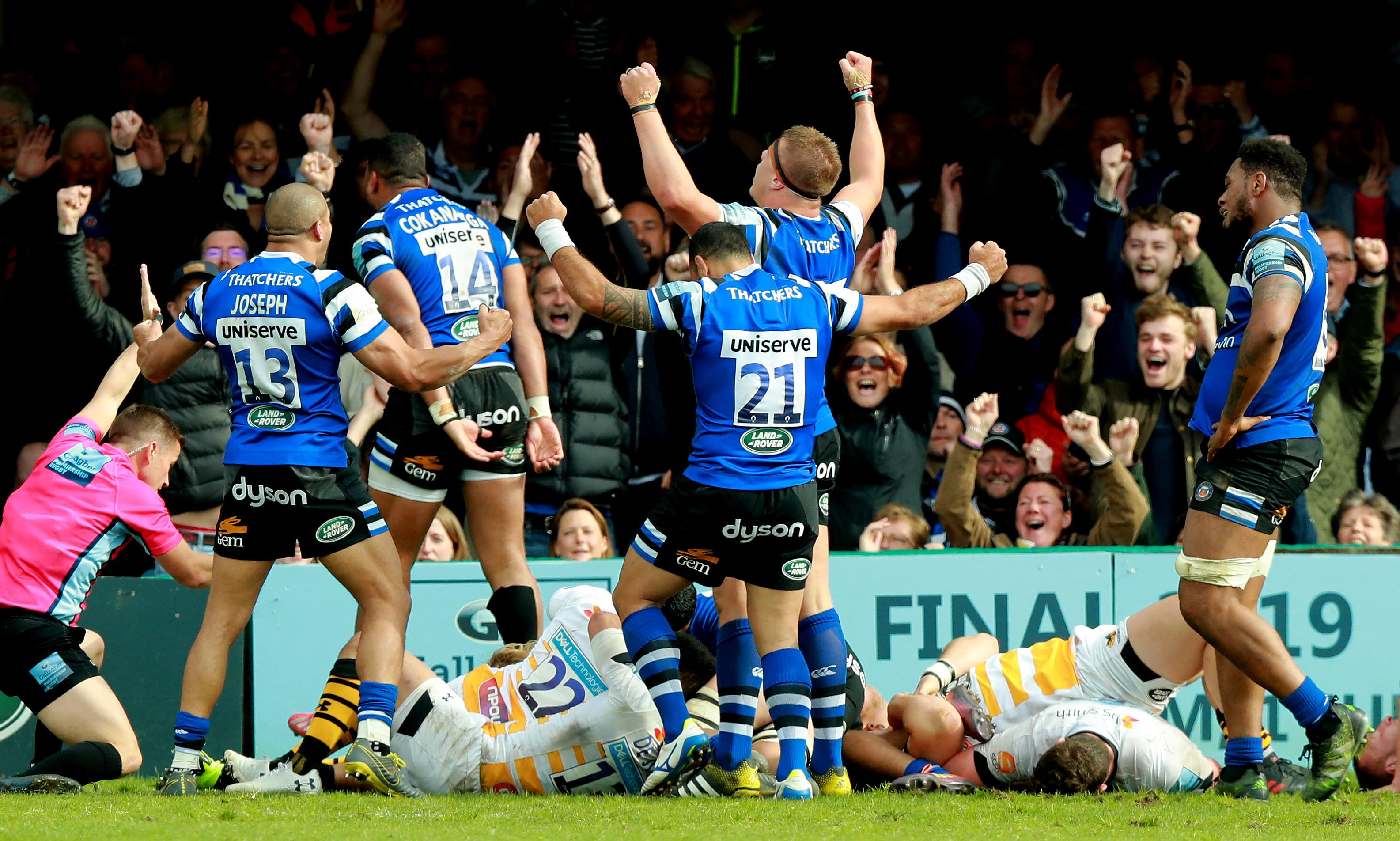 Late tries from Zach Mercer and Joe Cokanasiga edge Bath past Wasps