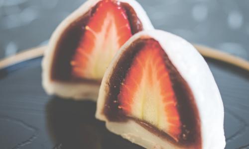 Strawberry daifuku.