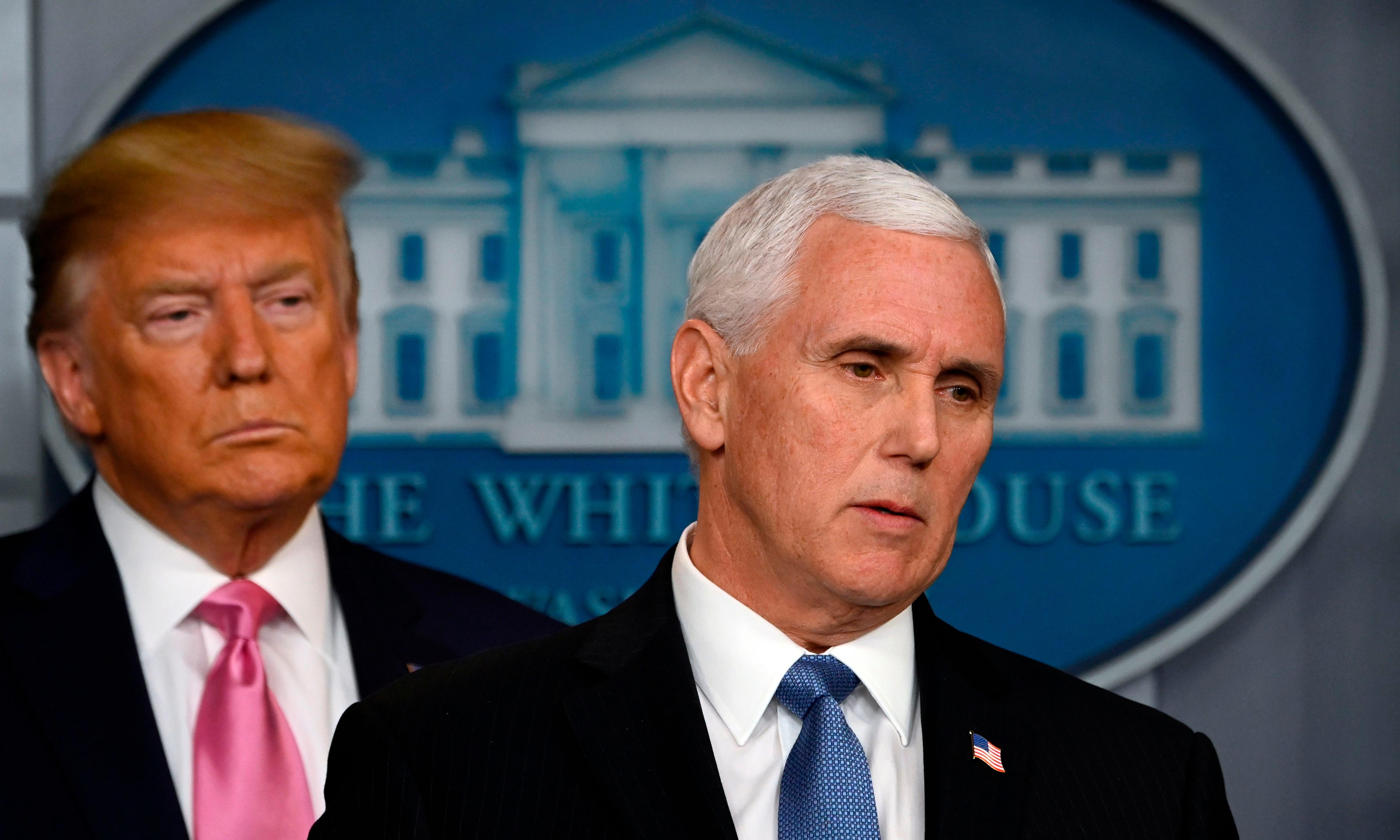 Mike Pence 'not up to task' of leading US coronavirus response, say experts