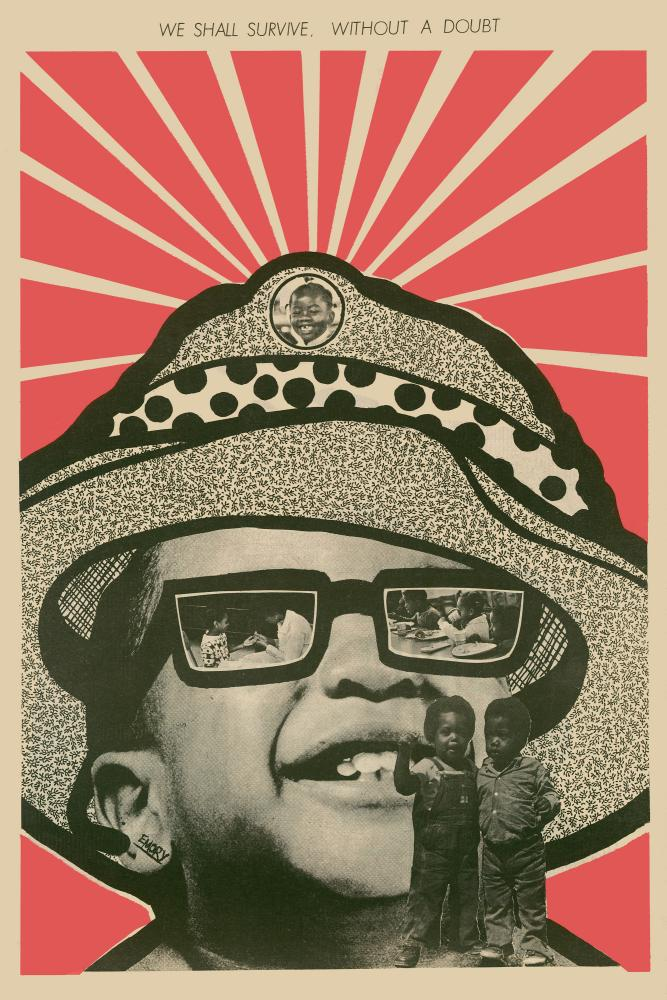 back cover of the Black Panther newspaper, August 1971, by Emory Douglas