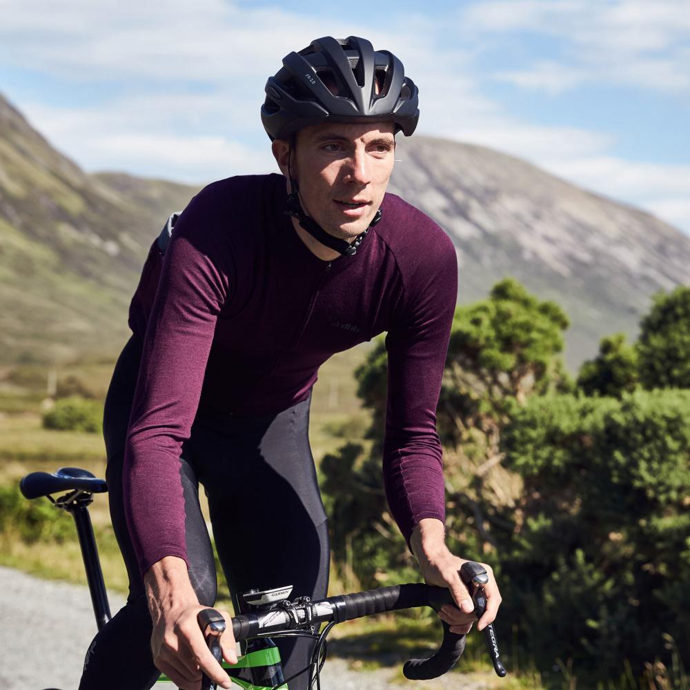 Purple rain: take on the mountains in dhb's new range of merino wool jerseys