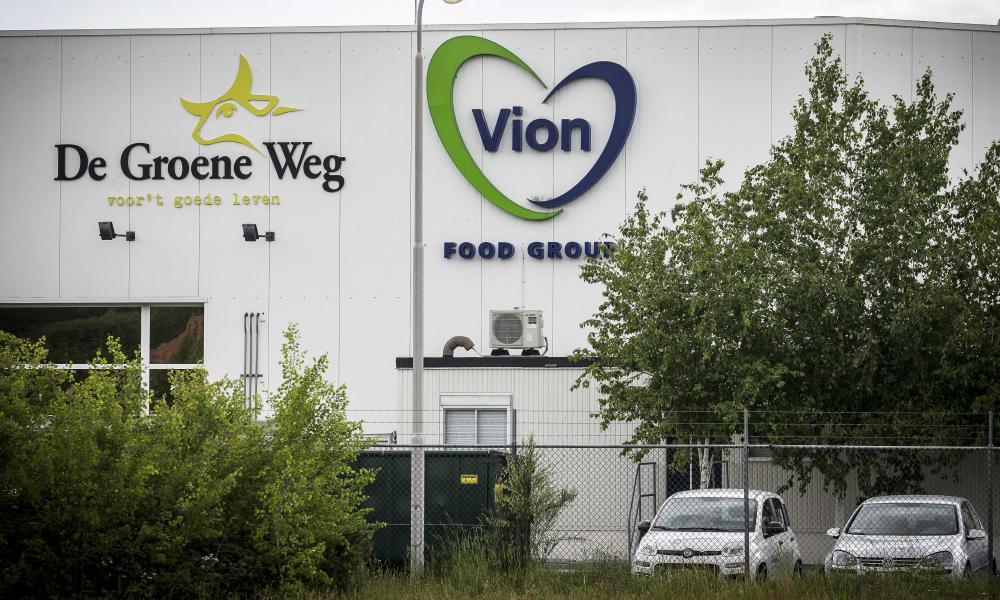 A slaughterhouse of the Vion food group in Groenlo, which was closed due to an outbreak of the Covid-19 in May. Of all 657 employees, 147 were tested positive by the health service GGD Noord- en Oost-Gelderland.