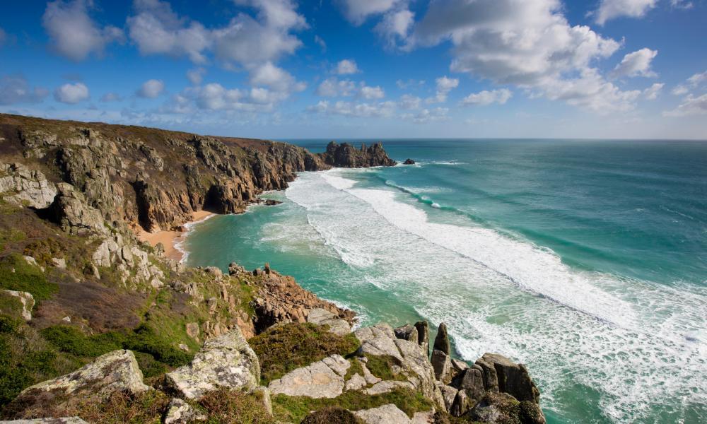 Porthcurno; Beach; Cornwall, UK.