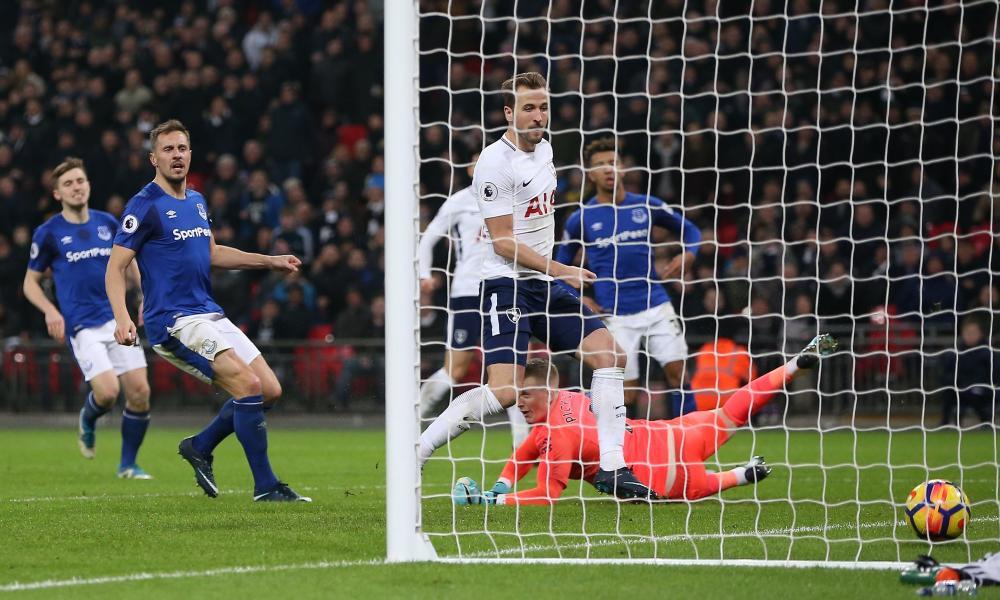 Harry Kane of Tottenham Hotspur scores his sides second goal.