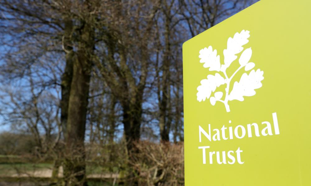 The National Trust logo at Coombe Hill, Buckinghamshire