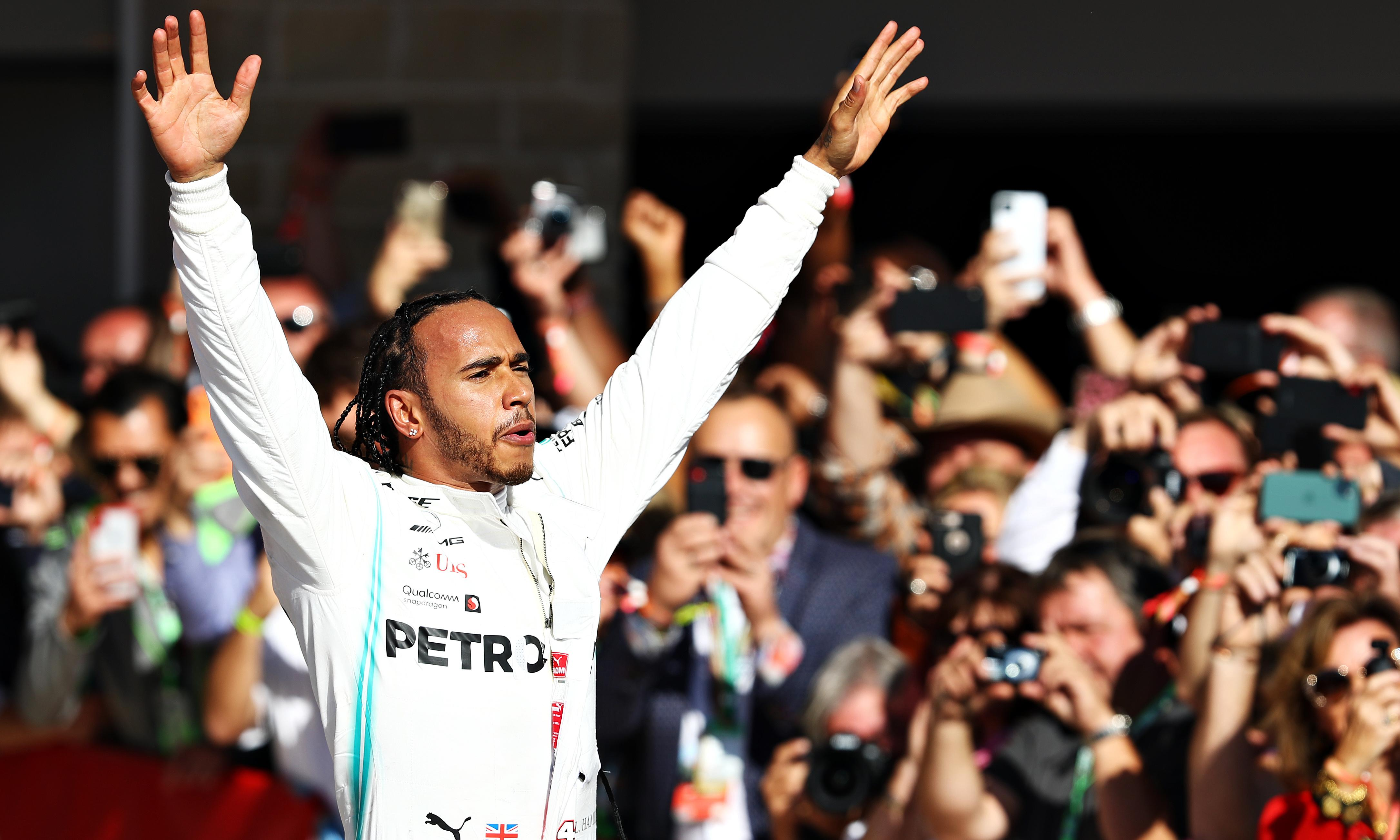 Lewis Hamilton seals sixth F1 world title with second place at US Grand Prix