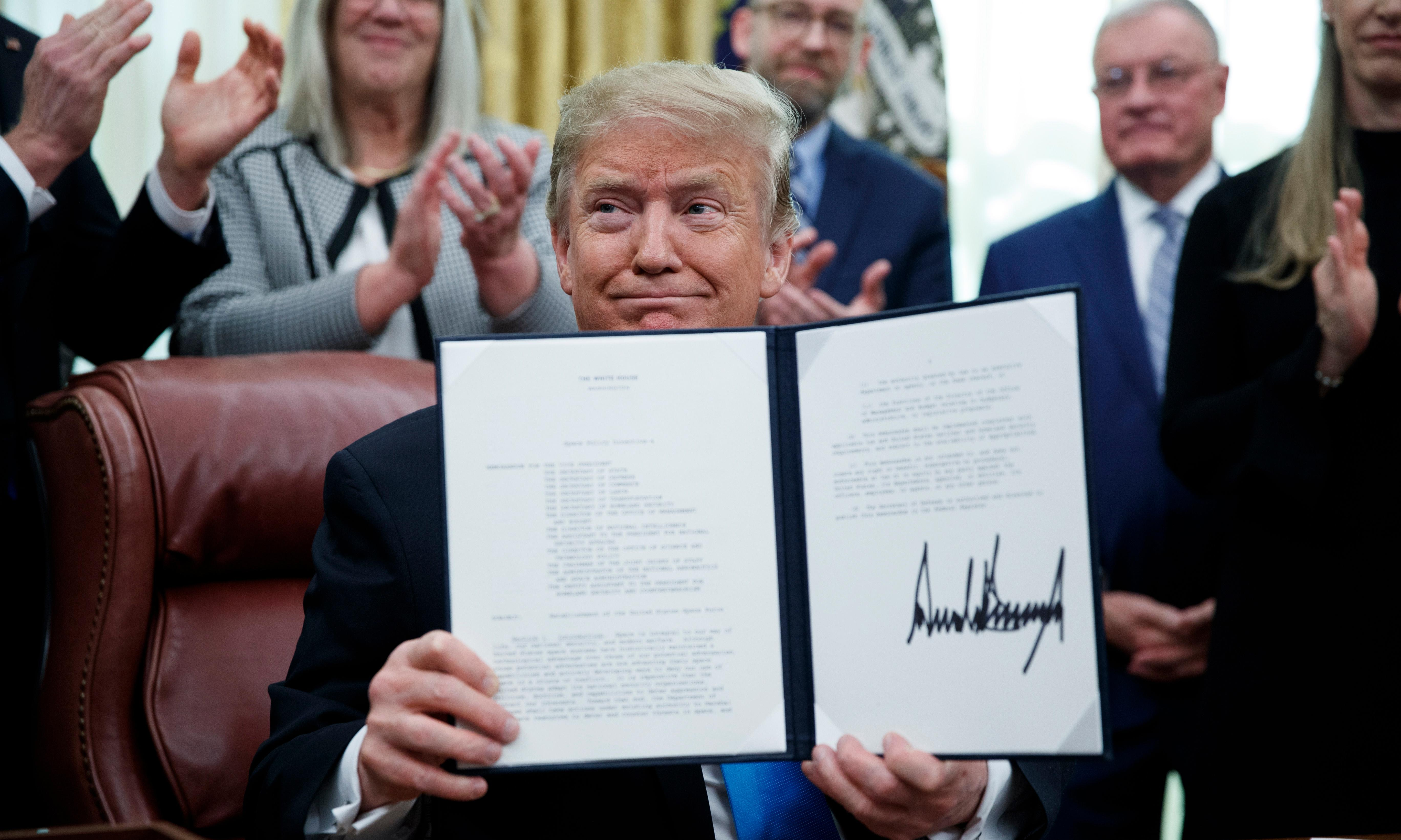 Trump signs space force plan: 'We have to be prepared'