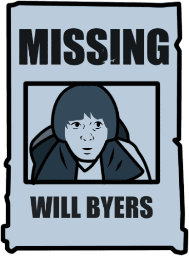 Will Byers Missing Poster
