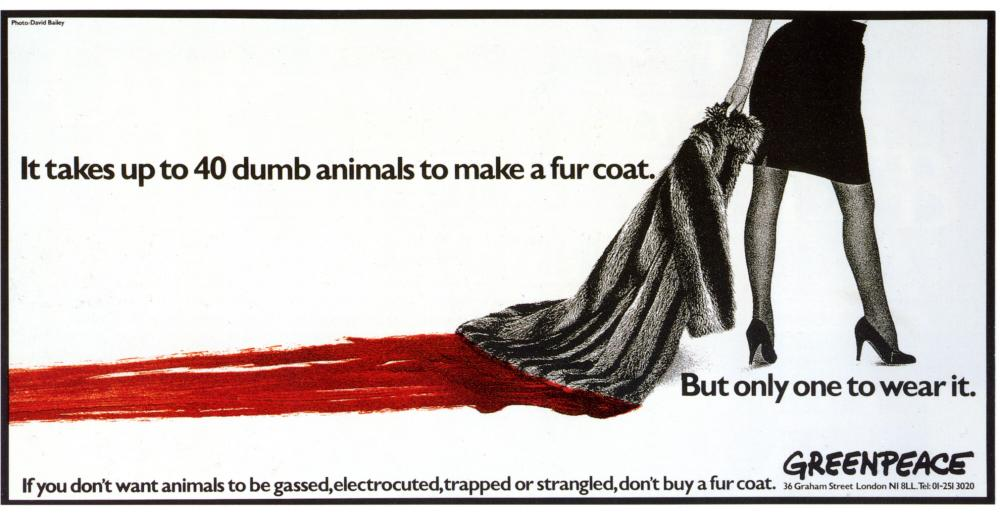 Greenpeace's 1986 anti-fur advertisement