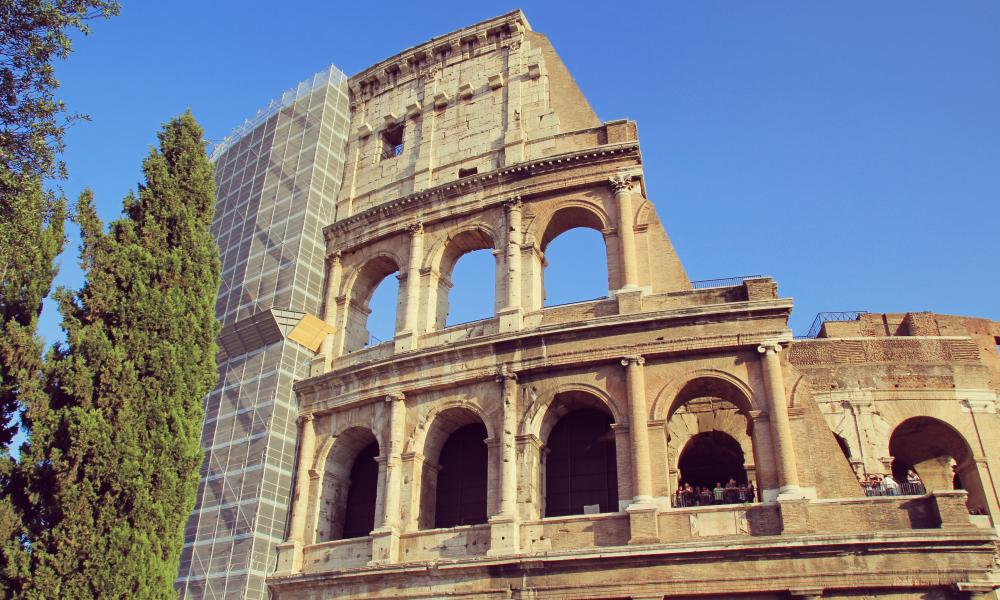 Monumental achievement: renovation of the Colosseum in Rome.