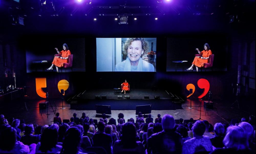 Judy Blume at Sydney writers festival 2021.
