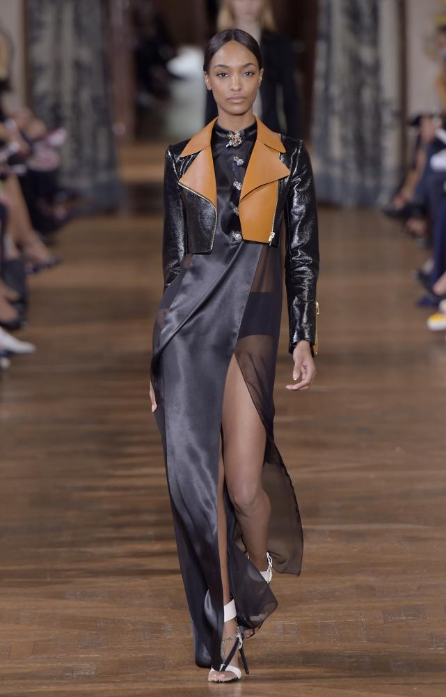 Jourdan Dunn at the Lanvin runway show.