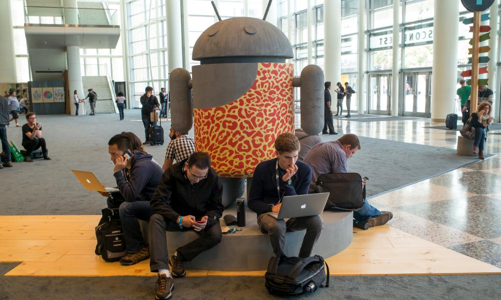 The Google I/O annual developers conference in San Francisco, 2015.