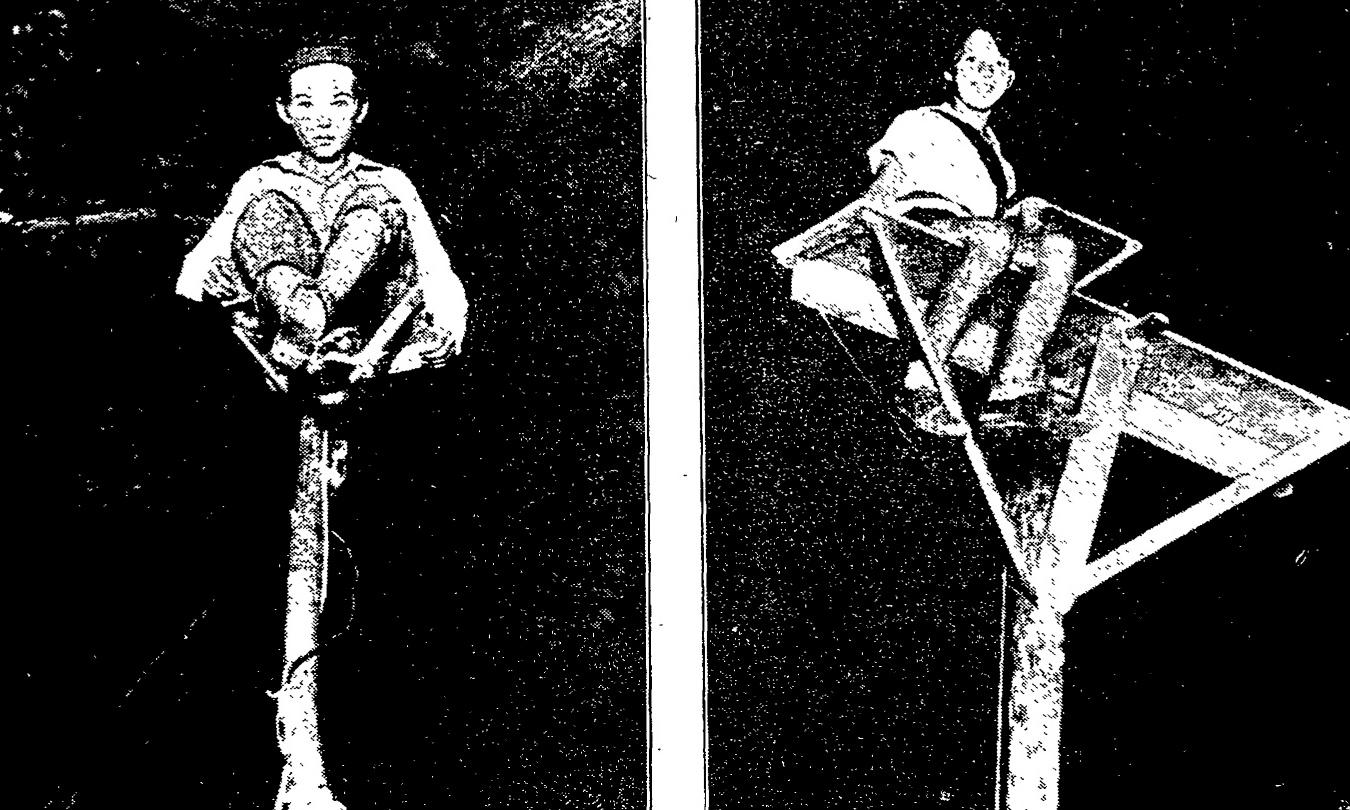 The young pole-sitters of the United States - archive, 12 September 1929