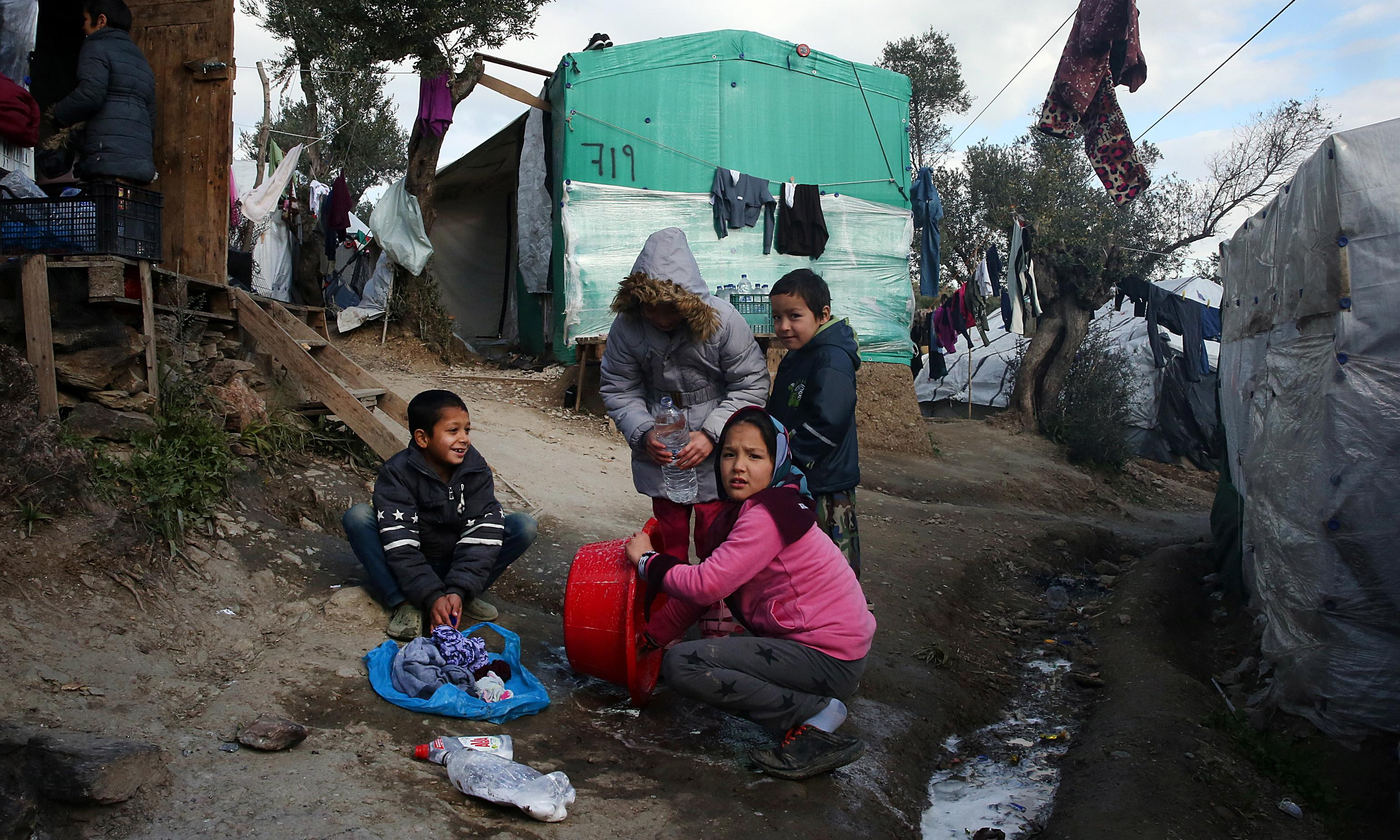 Trapped on Lesbos: the child refugees waiting to start a new life