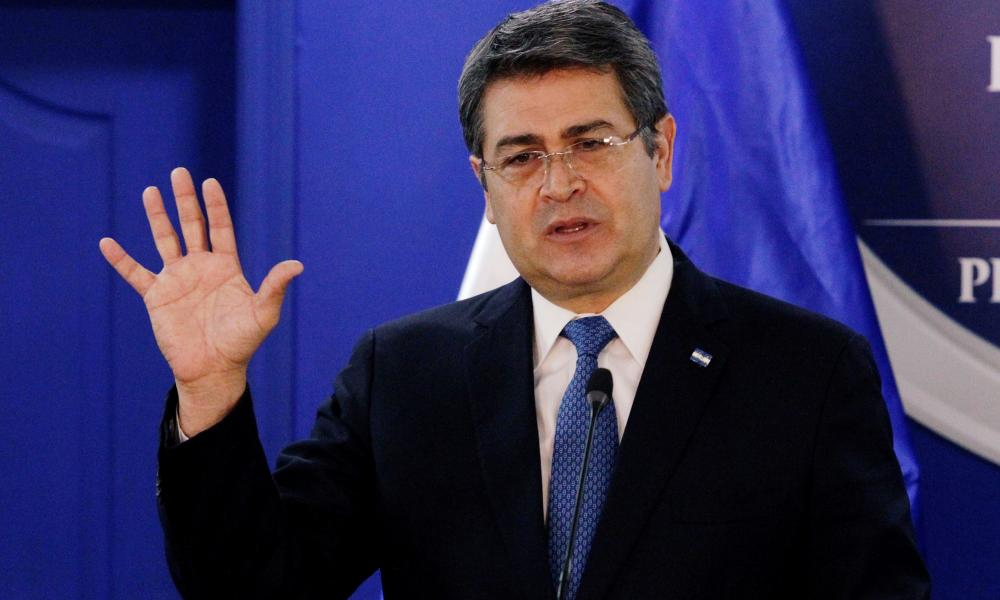 Honduras' President Juan Orlando Hernandez