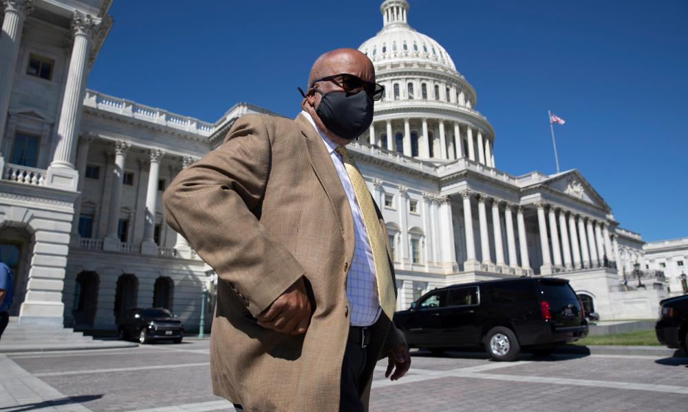 Don't mess with Bennie. Chair of the House Select Committee on the January 6 Attack Bennie Thompson walks outside the United States Capitol in Washington, DC, last month.