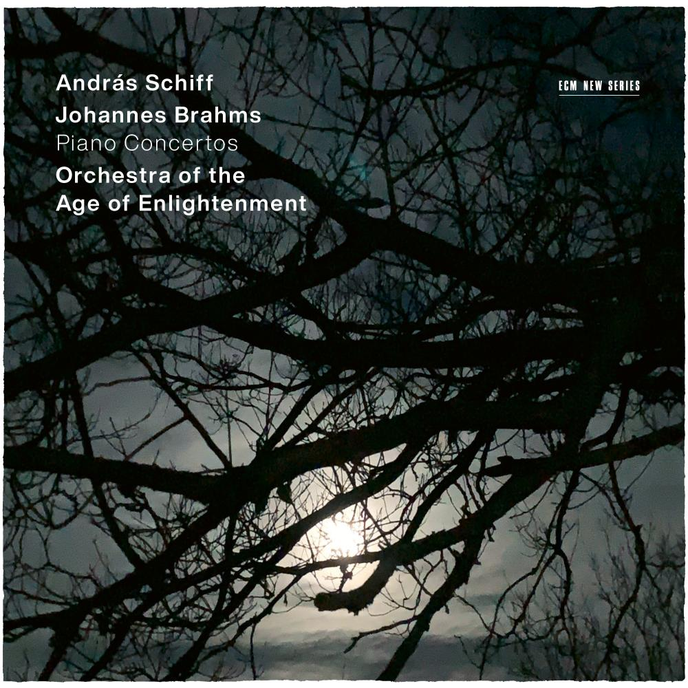 András Schiff/Orchestra of the Age of Enlightenment: Brahms Piano Concertos album cover