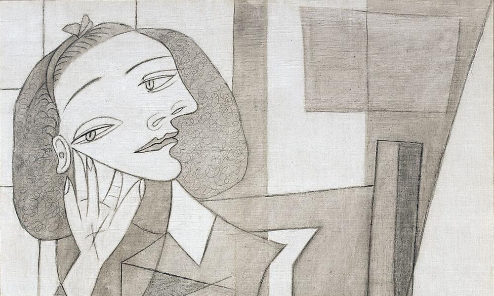 A detail from Portrait of Nusch Éluard, 1938.