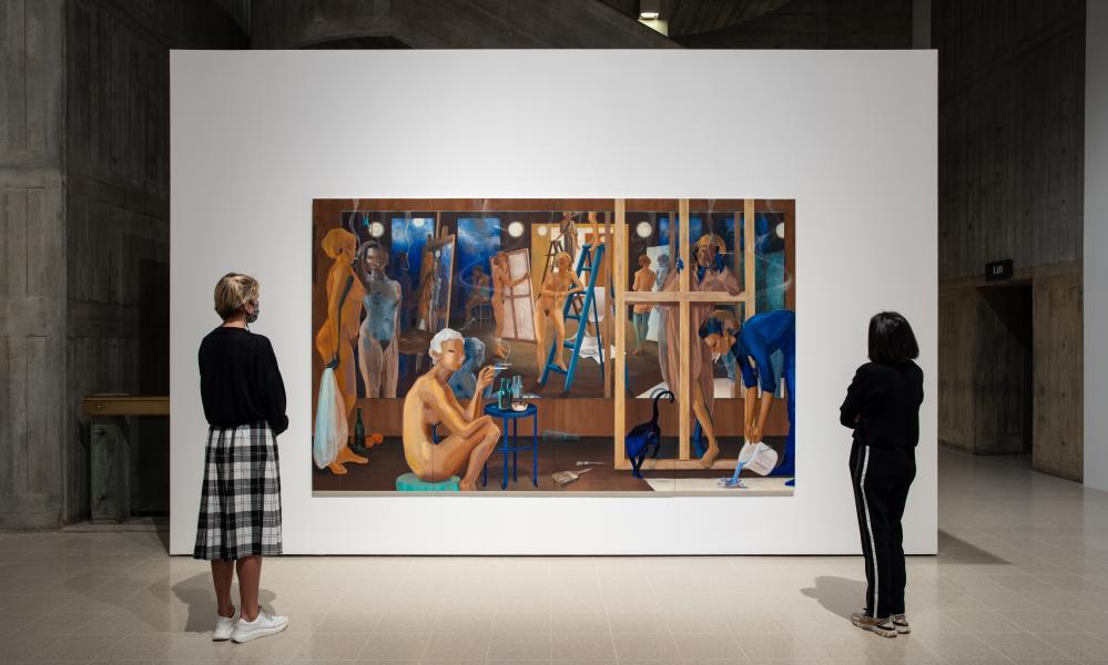 Lisa Brice's Smoke and Mirrors, 2020 at the Hayward Gallery.