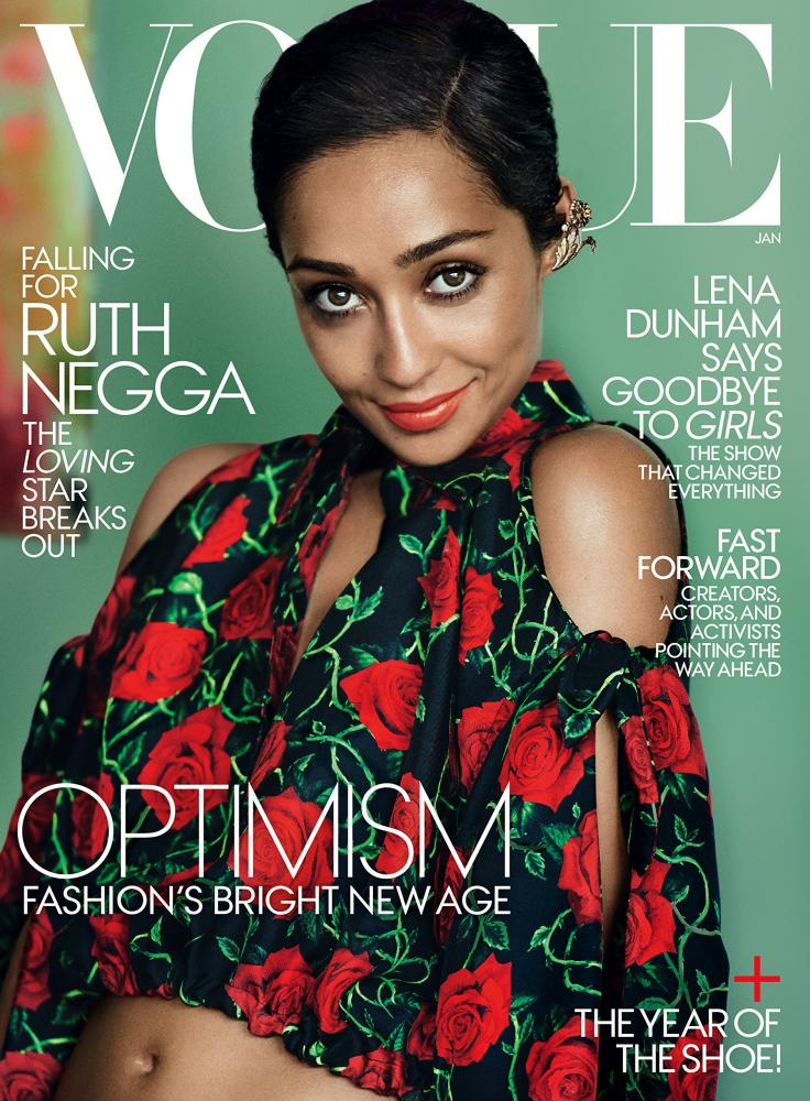 Ruth Negga on the cover of US Vogue.