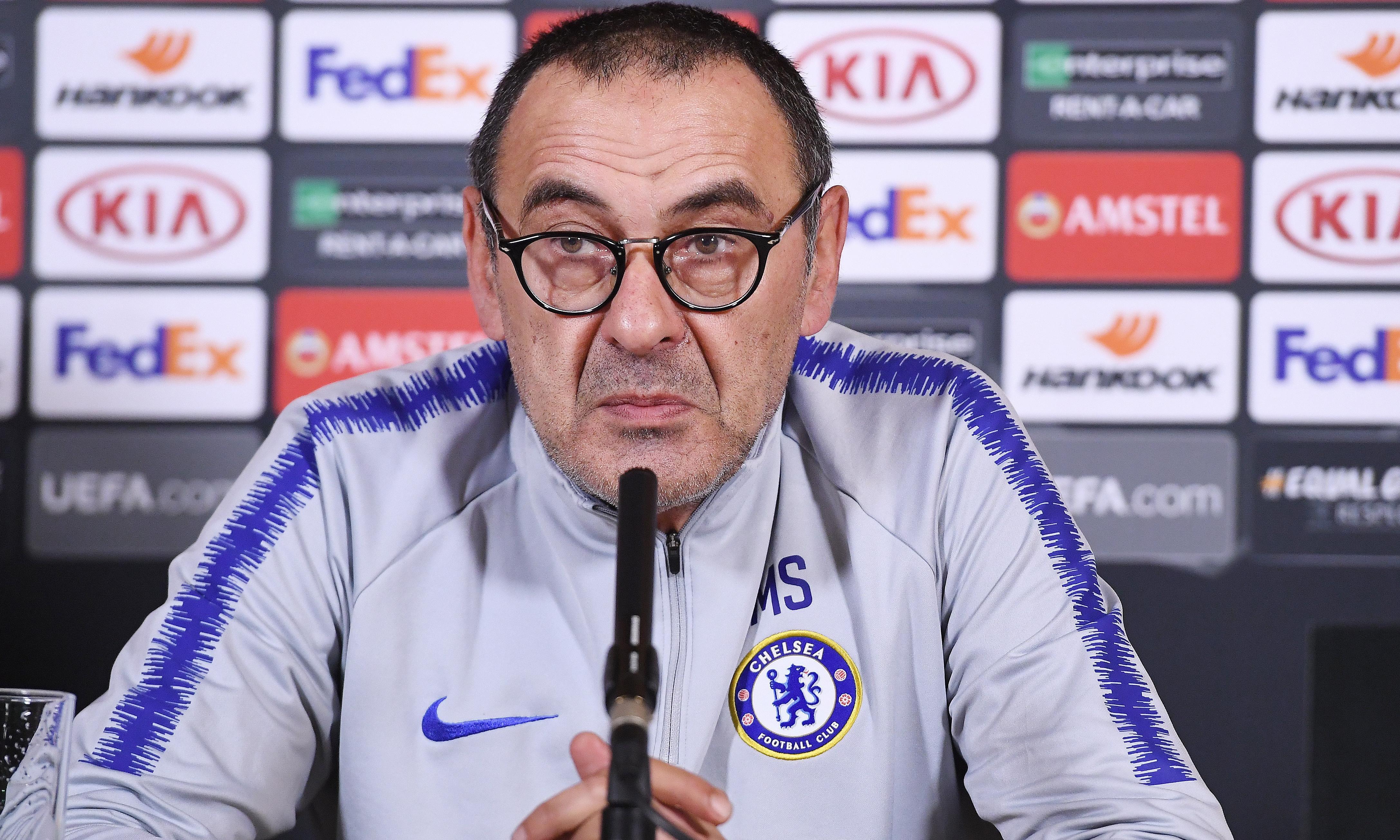 If my Chelsea future hinges on winning final, sack me now, says Maurizio Sarri