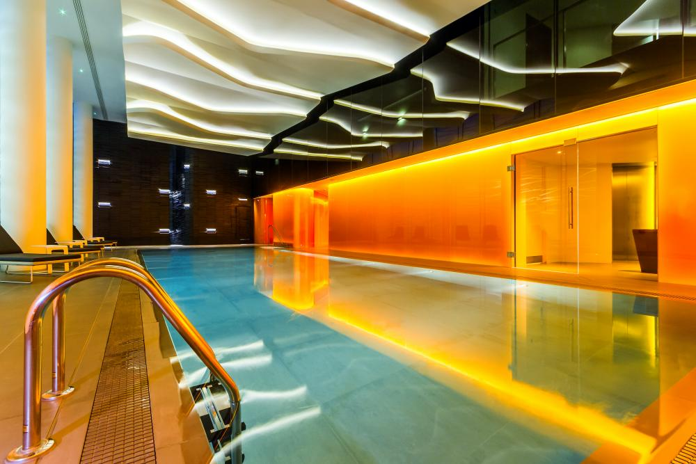 The swimming pool: 'a sense of physical wellbeing is encouraged'