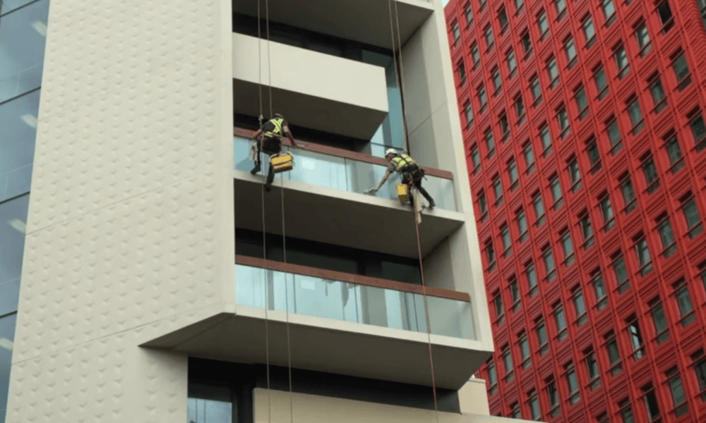 two windowcleaners