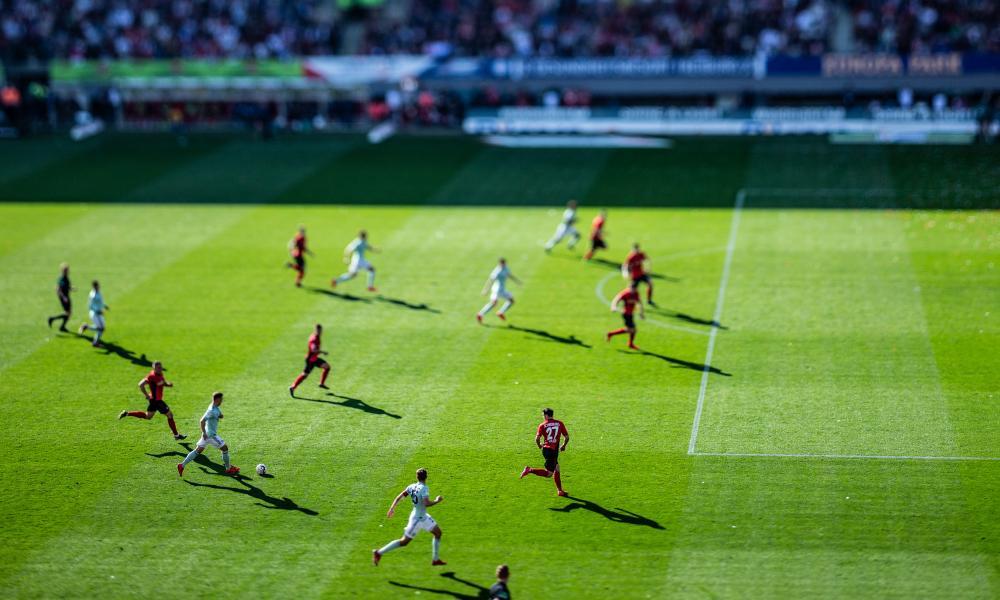Bayern Munich on the attack against Freiburg.