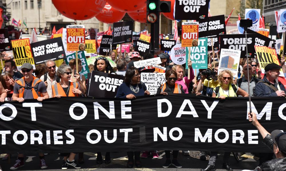 Tories out demonstration