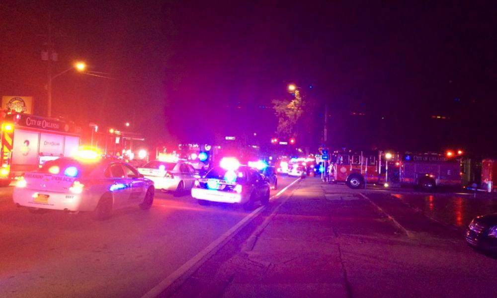 Scenes outside Pulse nightclub in Orlando, Florida following a mass shooting.
