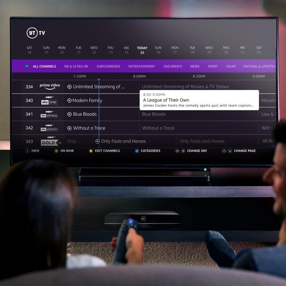 pay tv buyer's guide - BT TV