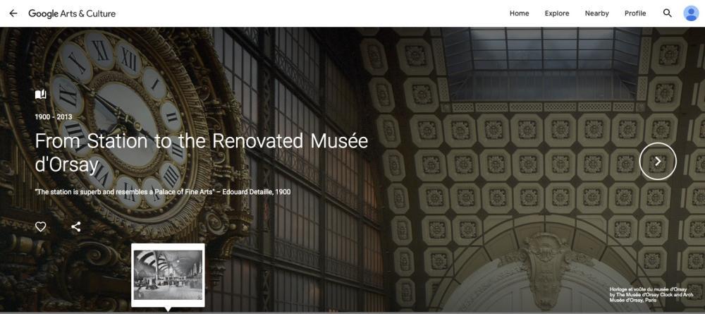 Musee d'Orsay virtual tour screenshot