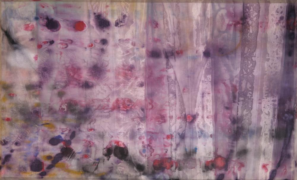 Curtain of sorrow … April 4, by Sam Gilliam, mourns the assassination of Martin Luther King.