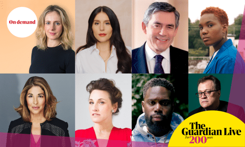 Clockwise from top left: Marina Hyde, Jessie Ware, Gordon Brown, Arlo Parks, Russell T Davies, Ghetts, Grace Dent, Naomi Klein