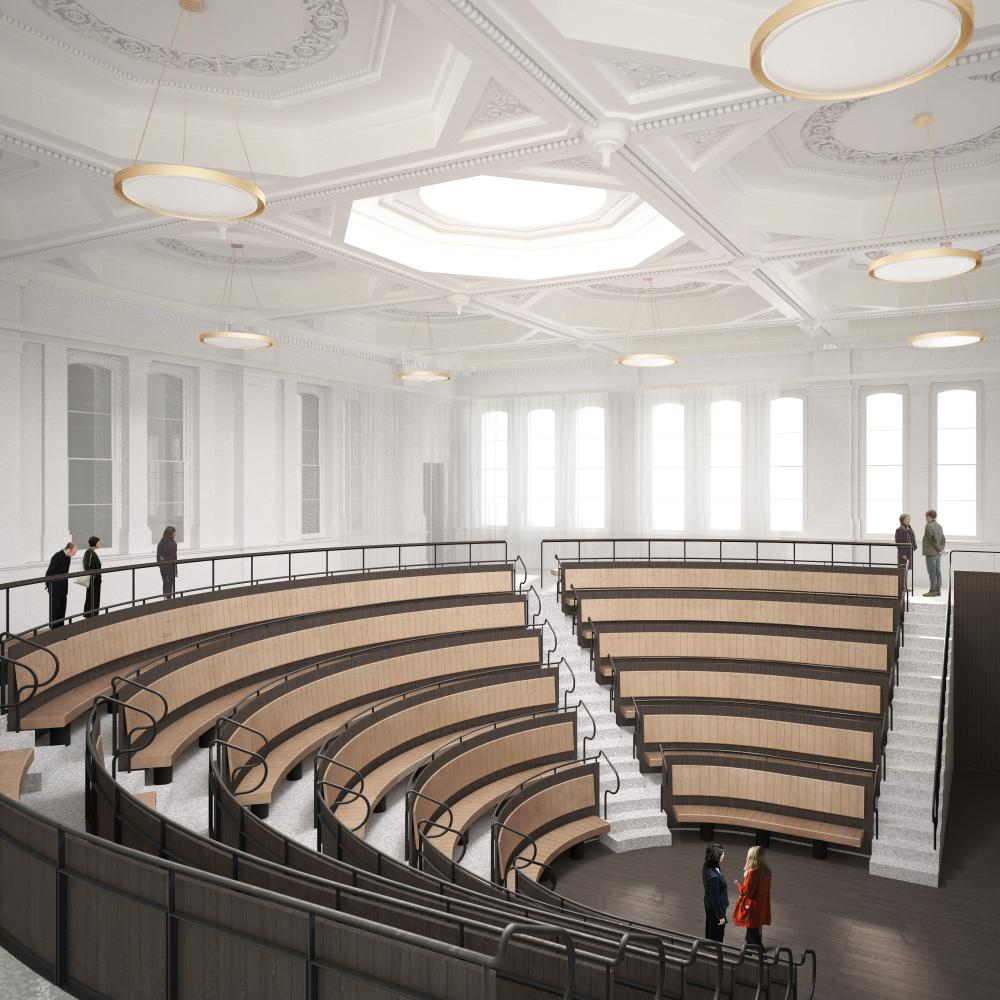 The new Lecture Theatre at the Royal Academy.