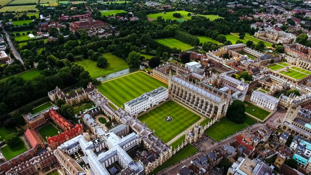 Cambridge, earlier. Looks like there's loads of room for wider pitches.