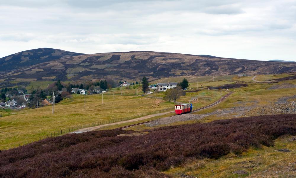 Train on the Wanlockhead and leadhills railway.