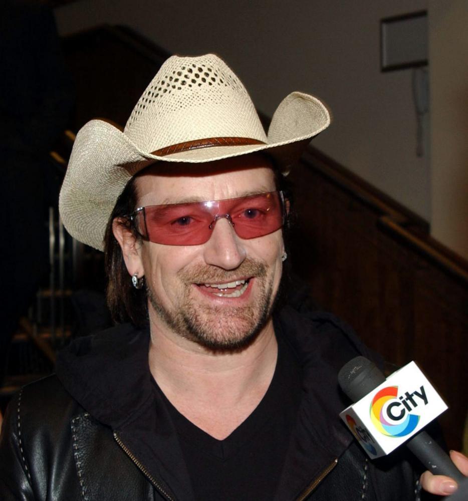 Bono plus cowboy hat.