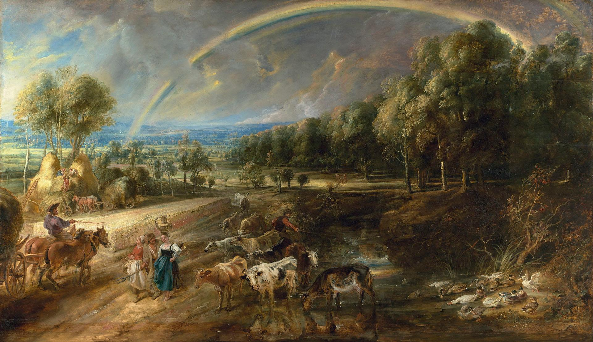 Rubens landscapes to be reunited for display after centuries apart