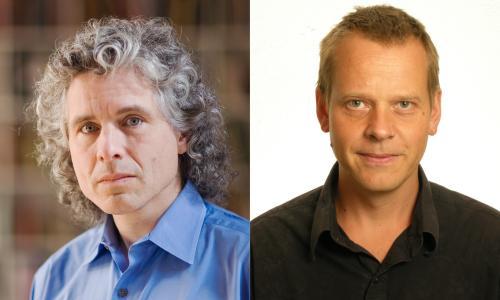 Steven Pinker (left) and Ola Rosling
