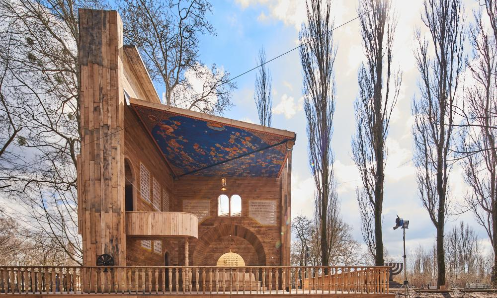 The Babyn Yar Symbolic Synagogue designed by Manuel Herz in Ukraine