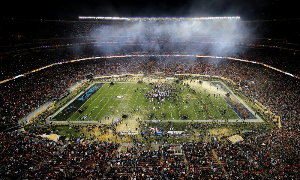 Denver won in Santa Clara (pictured) in 2016, but the NFL's showpiece heads to Houston.