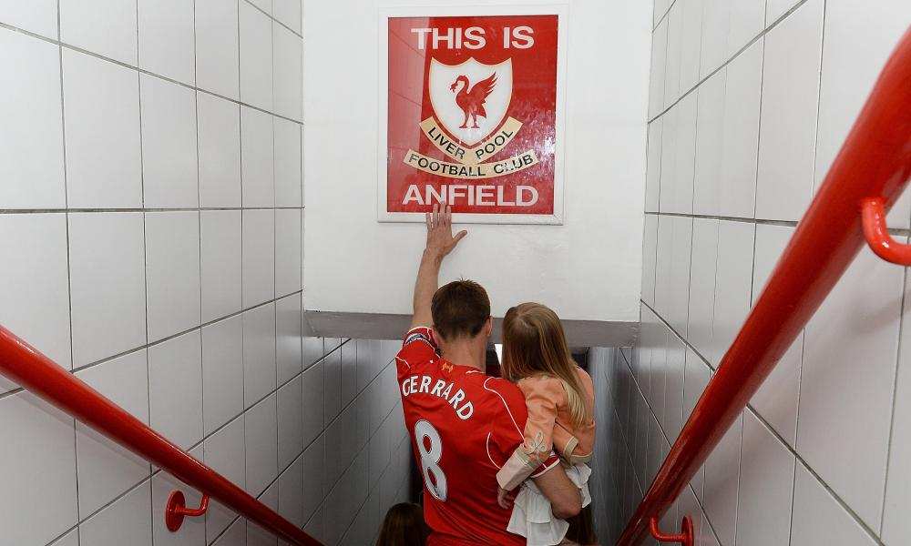 Steven Gerrard says goodbye to Liverpool... temporarily.