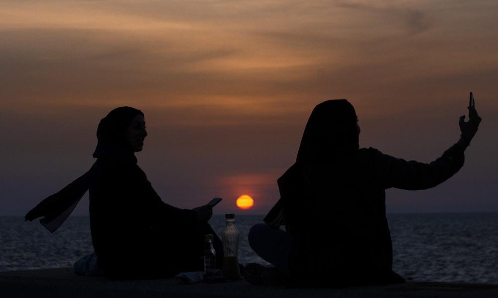 Muslim women in Beirut, April 2021.