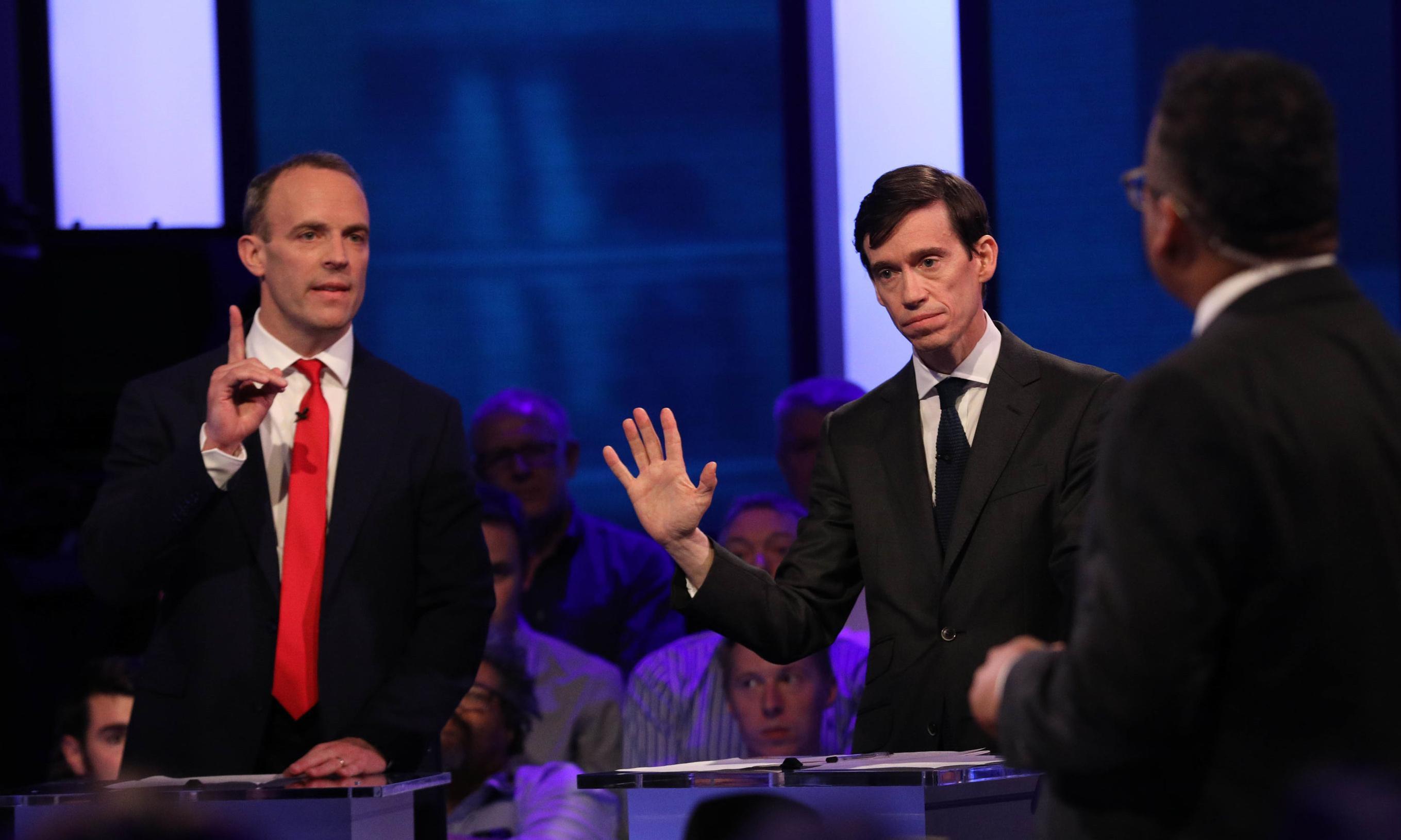 Silence is golden as Boris's lectern wins Tory televised debate