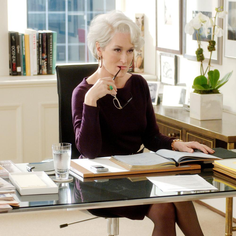 Meryl Streep as Miranda Priestly in The Devil Wears Prada
