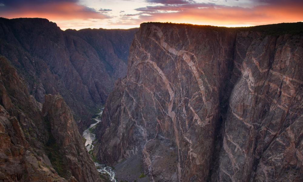 Black Canyon of the Gunnison national park, Colorado.