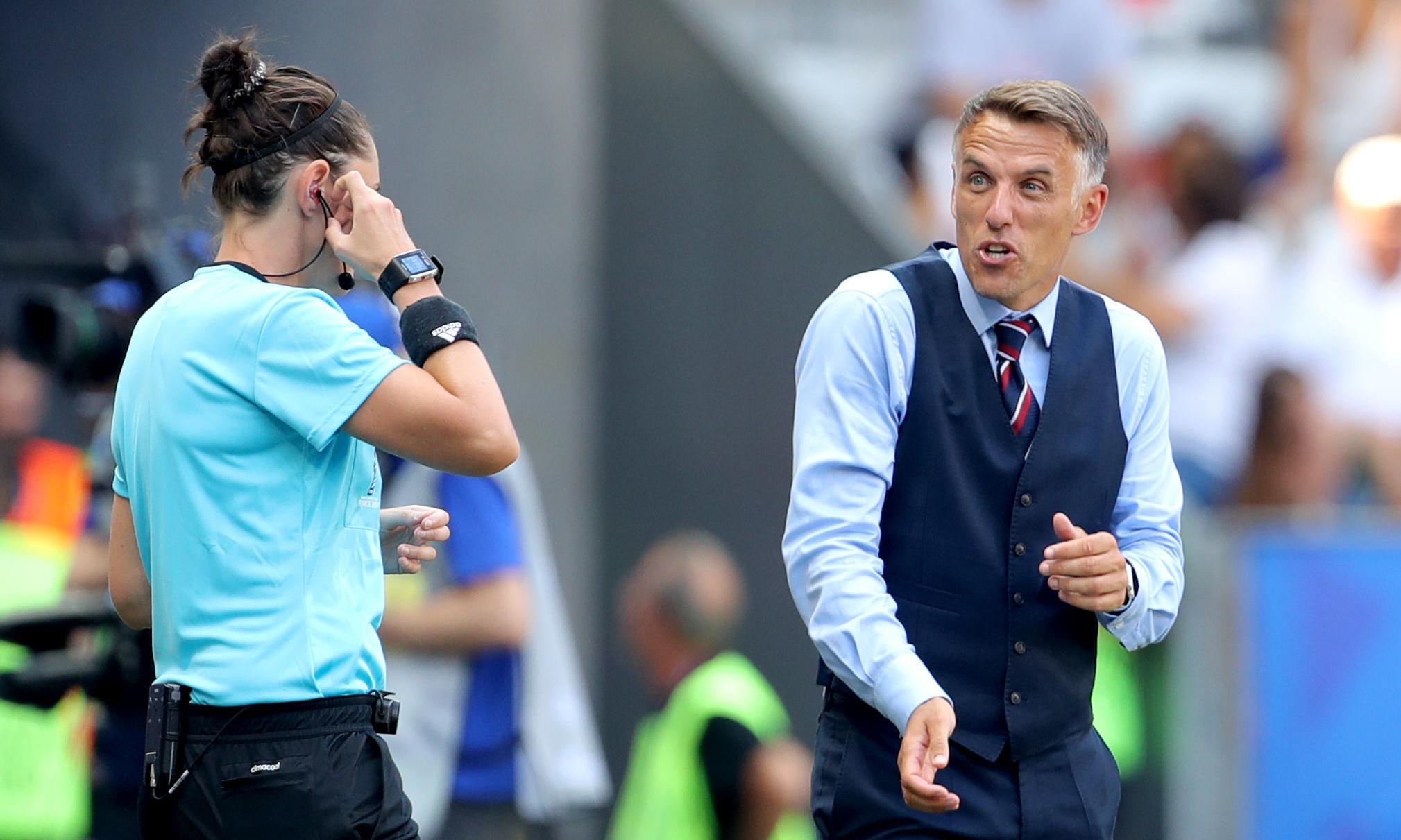 Phil Neville struggles with handball minefield after England VAR nightmare