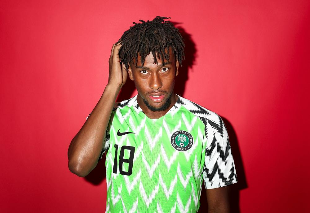 Alex Iwobi did not make much of an impact for Nigeria.
